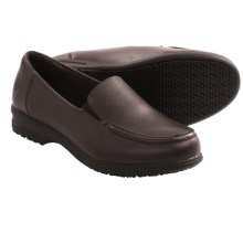 Skechers Caviar Three Work Shoes - Leather, Slip-Ons (For Women) in Brown - Closeouts