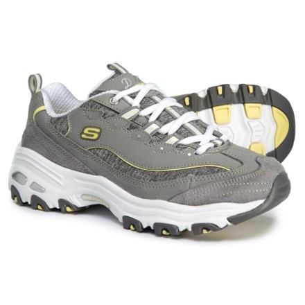 92a5b635f5ef D Lites Me Time Walking Shoes (For Women) in Gray Yellow -. Show Brand  Skechers