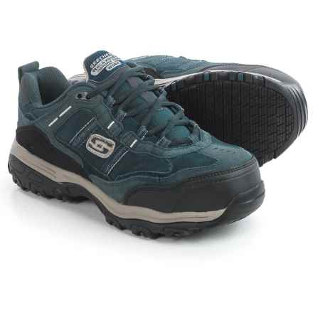 Skechers D'Lites SR Tolland Work Shoes - Composite Safety Toe (For Women) in Navy/Grey - Closeouts