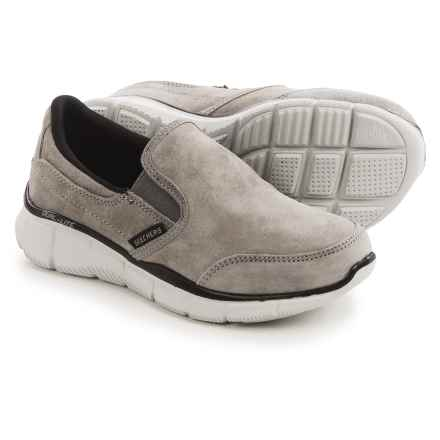 Skechers Equalizer Mind Game Sneakers - Suede, Slip-Ons (For Little and Big Boys) in Grey - Closeouts