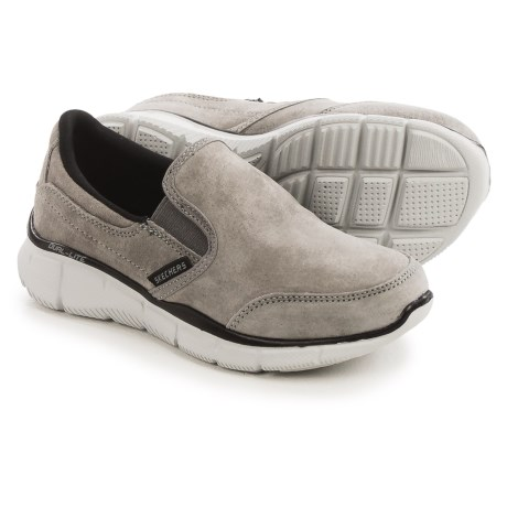 Skechers Equalizer Mind Game Sneakers - Suede, Slip-Ons (For Little and Big Boys) in Grey