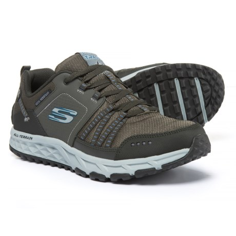 Skechers Escape Plan Hiking Shoes (For Men) in Pewter