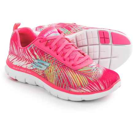 Skechers Flex Appeal 2.0 Tropical Sneakers (For Women) in Hot Pink/Multi - Closeouts