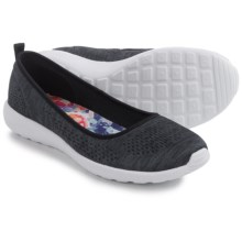Skechers Flex Stardust Follow Me Shoes - Slip-Ons (For Women) in Black/White - Closeouts