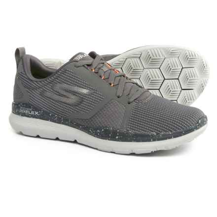 Skechers Go Flex Train Shoes (For Men) in Charcoal/Orange - Closeouts