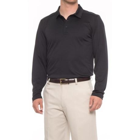 Skechers Go Golf Overcast Polo Shirt - UPF 50, Long Sleeve (For Men) in Black