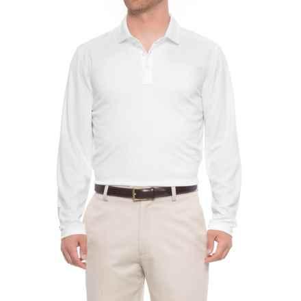 Skechers Go Golf Overcast Polo Shirt - UPF 50, Long Sleeve (For Men) in White - Closeouts