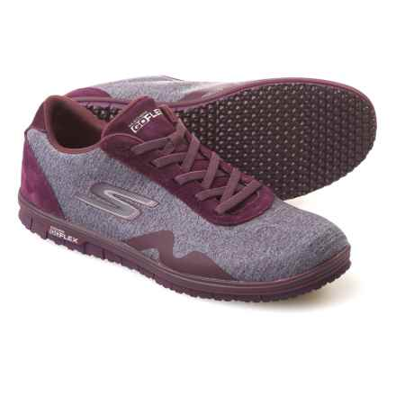 Skechers GO Mini Flex Galore Walking Shoes (For Women) in Purple - Closeouts