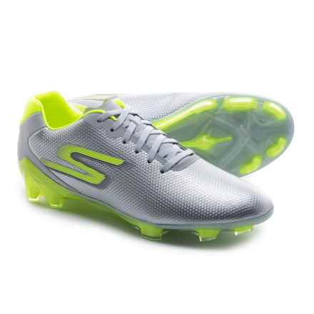 Skechers GO Soccer Galaxy FG Soccer Cleats (For Men) in Grey/Lime - Closeouts