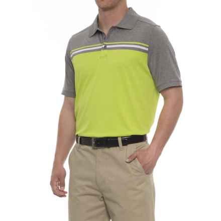 Skechers GOgolf Abalone Polo Shirt - Short Sleeve (For Men) in Green/Lime - Closeouts