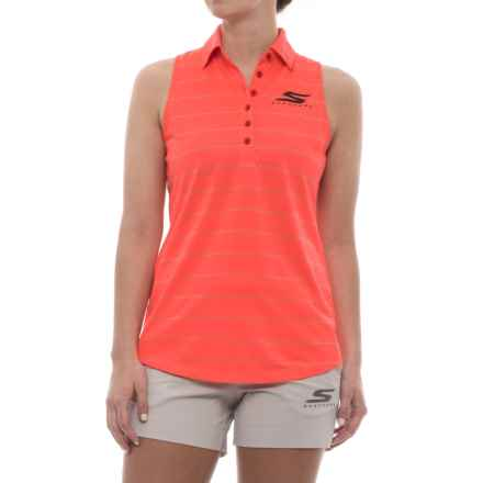 Skechers GOGolf Backswing Polo Shirt - Sleeveless (For Women) in Coral - Closeouts