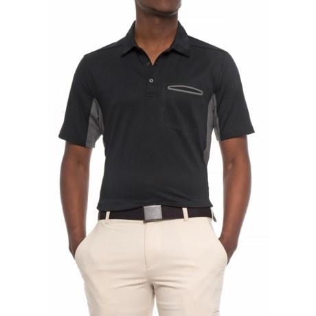 Skechers GOgolf Crestline Polo Shirt - Short Sleeve (For Men) in Black