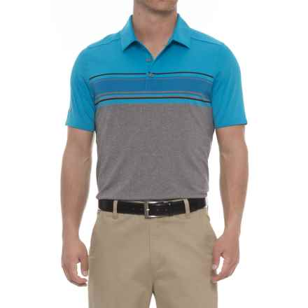 Skechers GOgolf Polo Shirt - Short Sleeve (For Men) in Blue - Closeouts