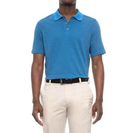 Skechers GOGolf Prado Jacquard Polo Shirt - Short Sleeve (For Men) in Blue - Closeouts
