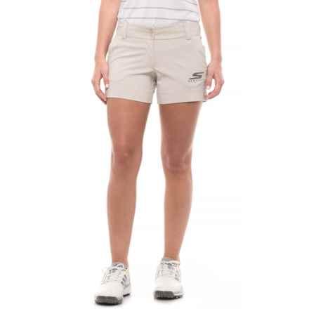 Skechers GOGolf Push Fade Shorts (For Women) in Khaki - Closeouts