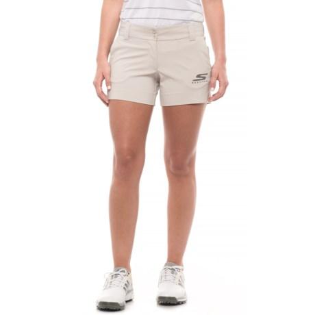 Skechers GOGolf Push Fade Shorts (For Women) in Khaki