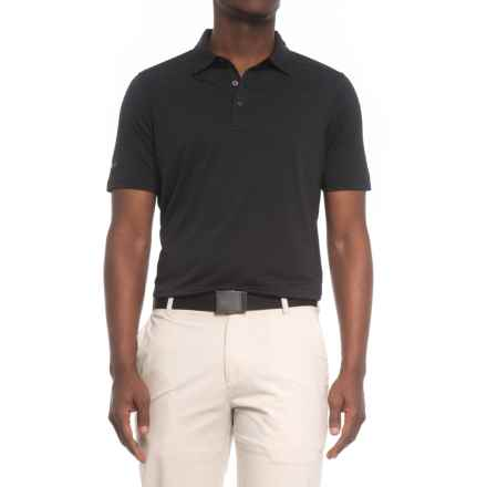 Skechers GOgolf Striped Polo Shirt - Short Sleeve (For Men) in Black - Closeouts