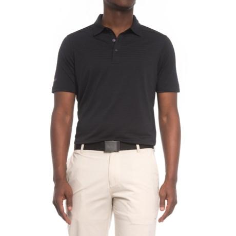 Skechers GOgolf Striped Polo Shirt - Short Sleeve (For Men) in Black