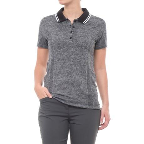 Skechers GOgolf Sweet Spot Polo Shirt - Short Sleeve (For Women) in Black