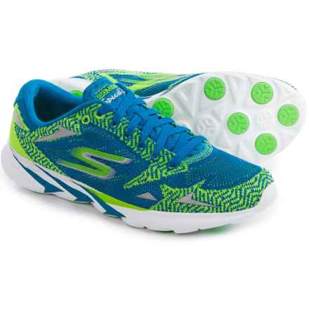 Skechers GoMeb Speed 3 Running Shoes (For Men) in Blue/Green - Closeouts