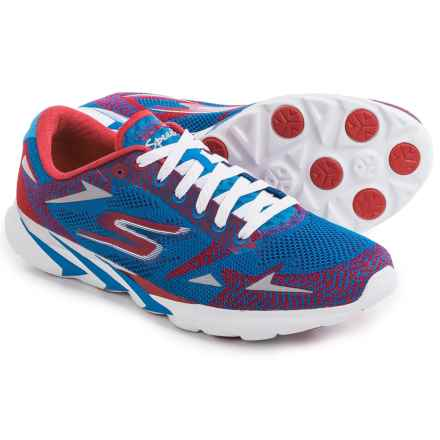 Skechers GoMeb Speed 3 Running Shoes (For Men) in Blue/Red - Closeouts