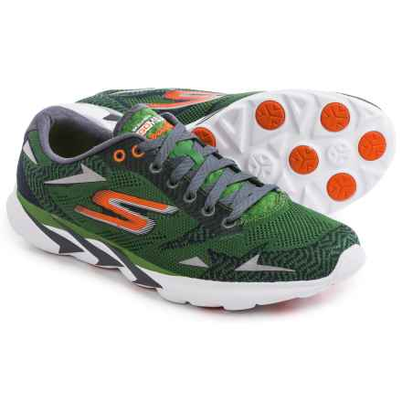 Skechers GoMeb Speed 3 Running Shoes (For Men) in Green/Orange - Closeouts