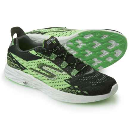 Skechers GOrun 5 Running Shoes (For Men) in Black/Green - Closeouts