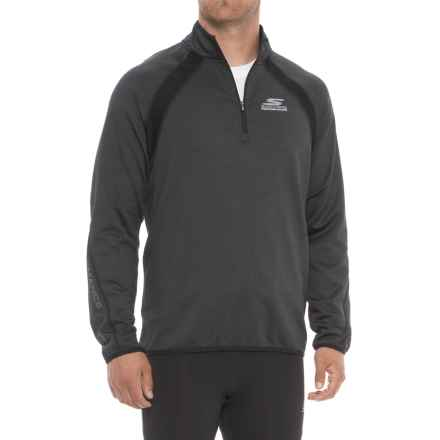 Skechers GoRun Windchill Sweatshirt - Zip Neck, Long Sleeve (For Men) in Charcoal - Closeouts