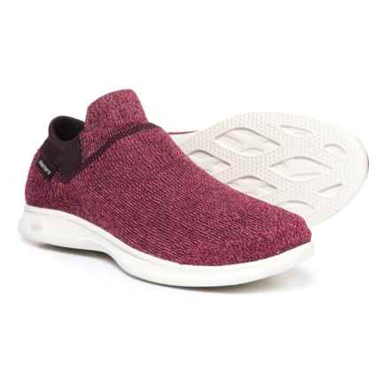 Skechers GOStep Lite Ultrasock Sneakers - Slip-Ons (For Women) in Burgundy - Closeouts