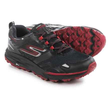 Skechers GOTrail Adventure Running Shoes - Waterproof (For Men) in Black/Red - Closeouts