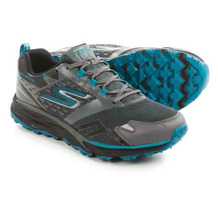 Skechers GOTrail Adventure Running Shoes - Waterproof (For Men) in Charcoal/Blue - Closeouts