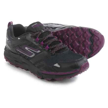 Skechers GOTrail Adventure Trail Running Shoes - Waterproof (For Women) in Black/Purple - Closeouts