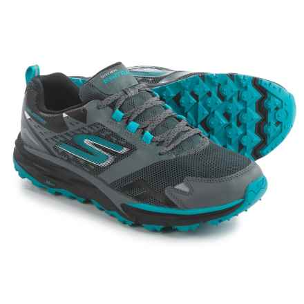 Skechers GOTrail Adventure Trail Running Shoes - Waterproof (For Women) in Charcoal/Blue - Closeouts