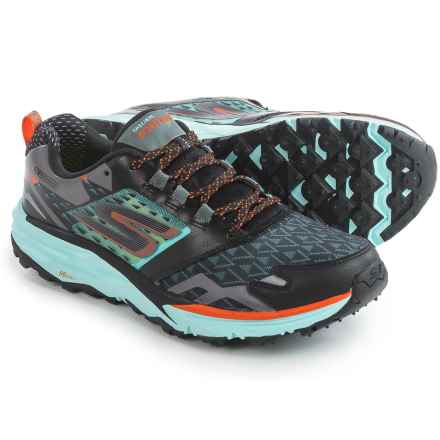 Skechers GOTrail Trail Running Shoes (For Women) in Black/Aqua - Closeouts