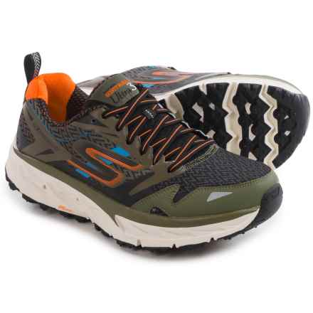 Skechers GOTrail Ultra 3 Trail Running Shoes (For Men) in Olive/Orange - Closeouts