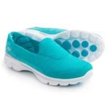 Skechers GOwalk 3 Super Sock 3 Shoes - Slip-Ons (For Women) in Turquoise - Closeouts