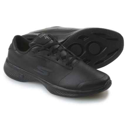 Skechers GOWalk 4 Luxurious Walking Shoes - Leather (For Women) in Black/Black - Closeouts