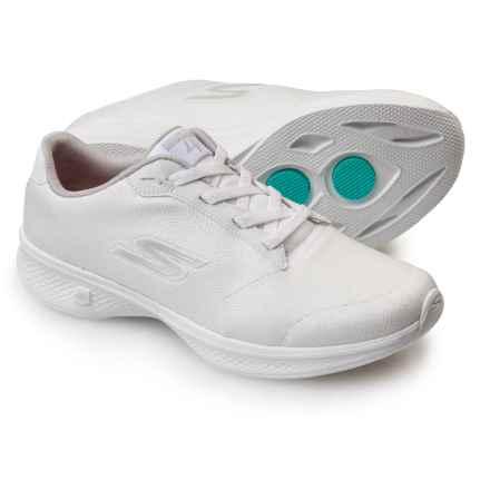 Skechers GOWalk 4 Premier Walking Shoes (For Women) in White/Silver - Closeouts