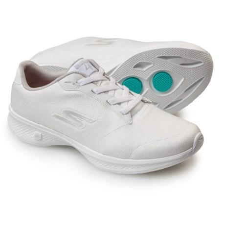 Skechers GOWalk 4 Premier Walking Shoes (For Women) in White/Silver