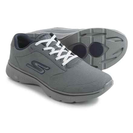 Skechers GOwalk 4 Walking Shoes (For Men) in Charcoal/Navy - Closeouts