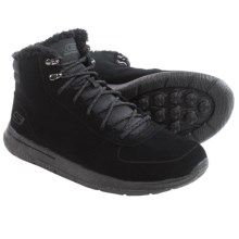 Skechers GOwalk City Sierra Suede Ankle Boots (For Men) in Black - Closeouts