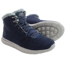 Skechers GOwalk City Sierra Suede Ankle Boots (For Men) in Navy/Grey - Closeouts