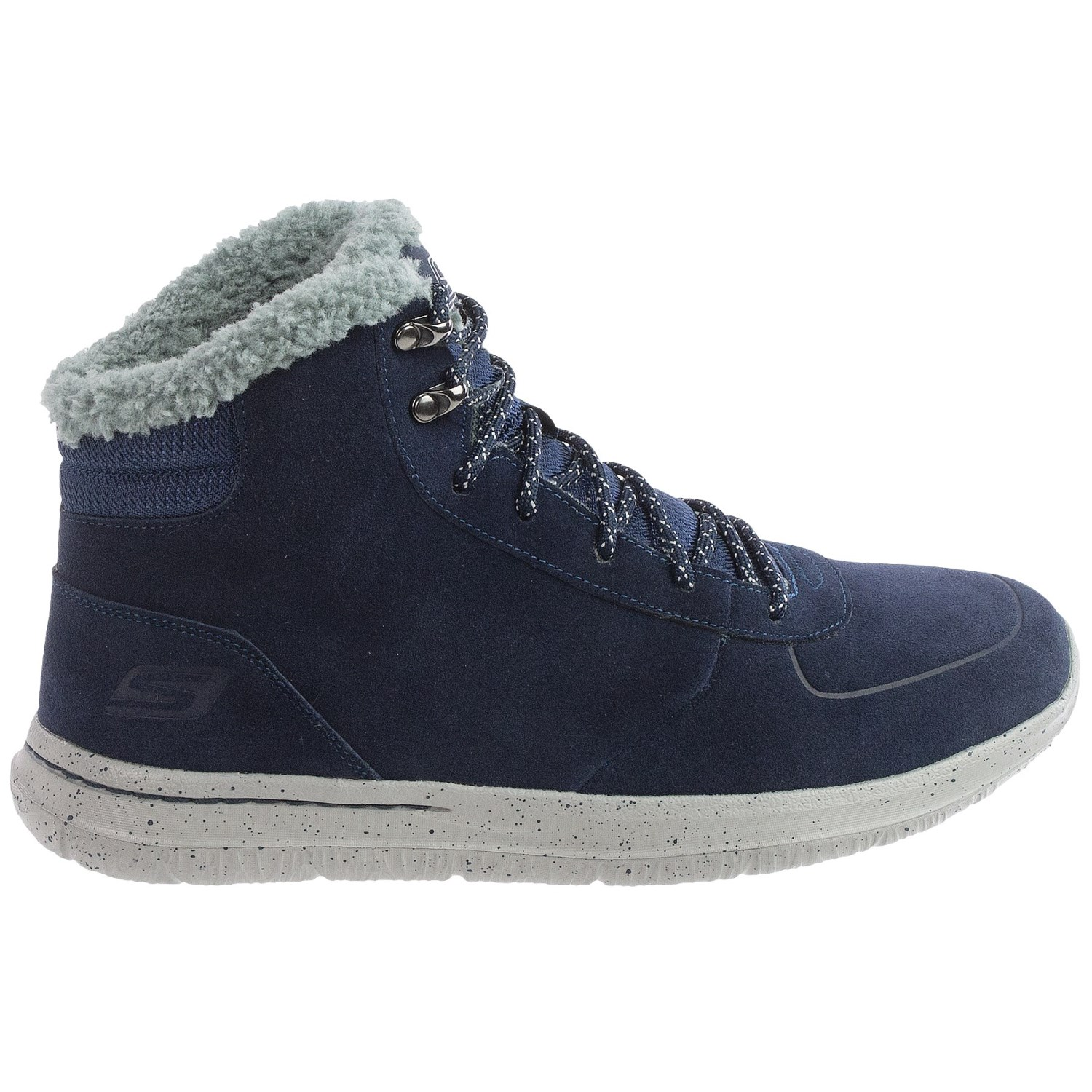 skechers gowalk city suede ankle boots for