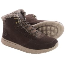 Skechers GOwalk City Sierra Suede Boots (For Men) in Chocolate - Closeouts