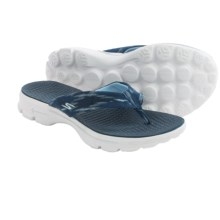 Skechers GOwalk Handcrafted Flip-Flops (For Women) in Navy/White - Closeouts