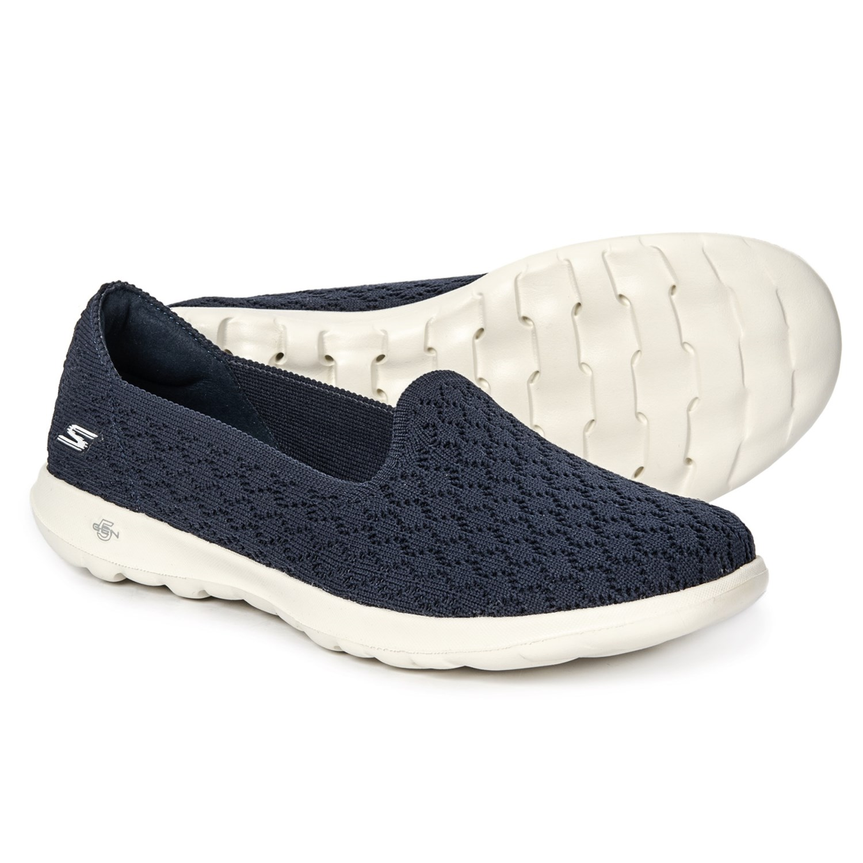 Skechers GOwalk Lite Daisy Shoes - Slip-Ons (For Women) in Navy 9e5a8ad80