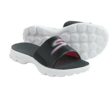 Skechers GOwalk Stroll Sandals (For Women) in Black/White - Closeouts