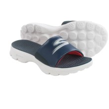 Skechers GOwalk Stroll Sandals (For Women) in Navy/White - Closeouts