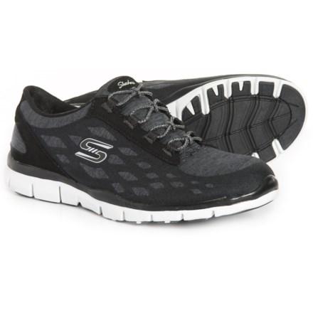 5d1370c502cc Gratis This Moment Shoes - Slip-Ons (For Women) in Black White. Show Brand  Skechers