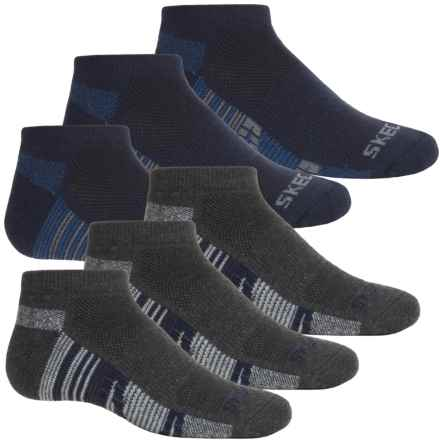 Skechers Low-Cut Socks - 6-Pack, Ankle (For Big Boys) in Navy Combo - Closeouts